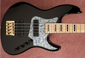 NEW MODEL! K424 Black Gloss Alder -   Bartolini 2 square J Quad Coils- Bass Mods upgraded  3 band with mid Control