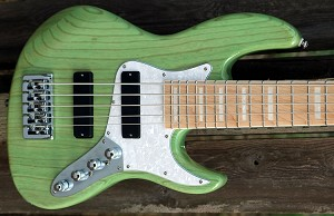 K524  24 fret - Light green stain- Swamp Ash-Optional  Pickups and Preamps