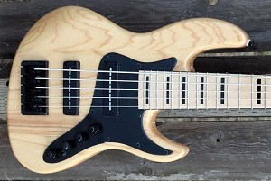 K524  24 fret - Natural- Swamp Ash-Optional  Pickups and Preamps  (Pictured with Nordstrand Bigblades)