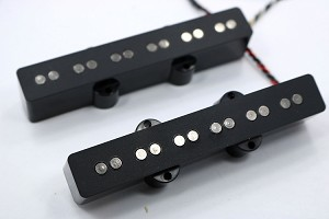 Bassmods Black Nickel REJ 6 String Pickups- Rare Earth Charged Poles- Rare Earth Charged Magnets- Neodymium