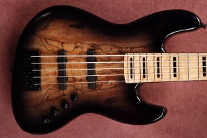 K534 Black Burst Spalt -Swamp Ash - - your choice of pickups and preamp
