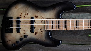 K5TS  Black Burst Burl  --Swamp Ash - your choice of pickups and preamp