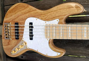 Maurice Fitzgerald Signature MF5 Natural- Bassmods 3 Band and Bassmods REJ Pickups - 70's Pickup Spacing