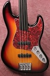 Discounted K4VH  Fretless 3 Tone Sunburst- 3 Band - Bartolini Pickups