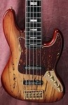 "K5 35""Spalted Tan Burst- Aguilar Pickupsi Bass Mods Preamp"