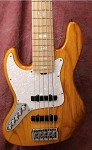 "Lefty K5 35""  -  Plek'd  Frets - Bartolini Pickups- New Bass Mods Upgrade Preamp"
