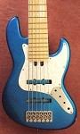 "K634""  Classic - Blue Sparkle Custom- with Nordstrand Pickups and your choice of preamp"