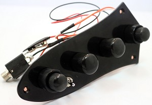 Bass Mods Deluxe Mini Pre-Black J Plate - 3 Band 4 knobs with pull bright- Model: 34AP-PTPB - Upgraded Version!