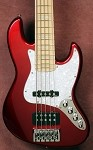 "New Model k534""  Candy Apple Red Custom Bass Mods Big Fatty with Quad coil bridge"
