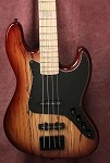 K4VV Spalted Tan Burst - Bass Mods 3 Band Preamp- Dimarzio Ultra Jazz Pickups
