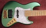 "New Model k534""  Metallic Teal  Custom Bass Mods Big Fatty with Quad coil bridge"