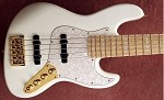 K534 Gloss White  - 70's Pickup spacing-Swamp Ash- your choice of pickups and preamp