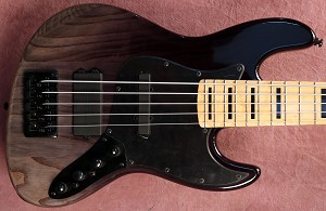Black Vertical Fade  KM5 -Swamp Ash - Maple -Bartolini Quad coil Bridge- Optional Preamps