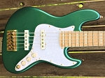 NPS -Nate Phillips Signature 5 string- Metallic Teal -  Maple fretboard - Delano Pickups   JMC FE - Aguilar Preamp