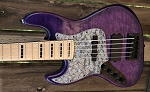 LEFTY!! Purple Flame KM5 -Swamp Ash - Maple- Delano HE - Bassmods MC3 preamp