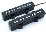 Chrome REJ  5 String Pickups- Rare Earth Charged Poles- Rare Earth Charged Magnets- Neodymium